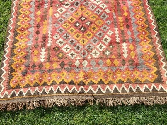 6 x 4 feet. Big Gorgeous Maimana hand woven Rug/Kilim. Traditional.