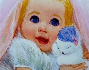 Vintage Print Frances Hooks Little Bundle Of Joy