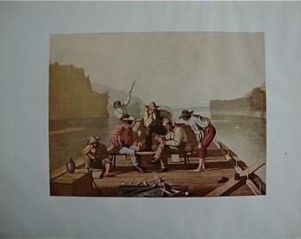 Raftsmen by George Caleb Bingham