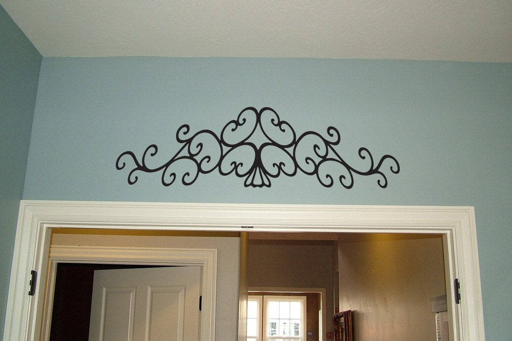 Fancy Scroll Vinyl Decal Wall Art Graphics by urbanexpressions