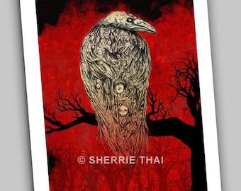 The Raven, Dark Fantasy Gothic Fine Art Print