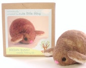 diy felt - needle felting kit - craft kit- DIY bunny