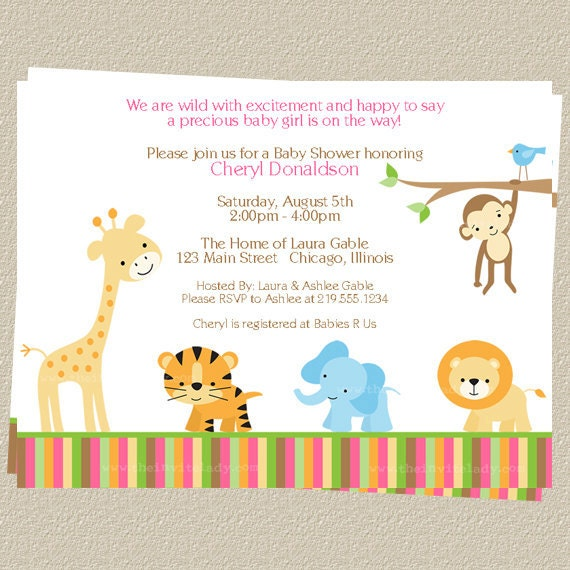 Invitaciones de animalitos de baby shower para imprimir - Imagui