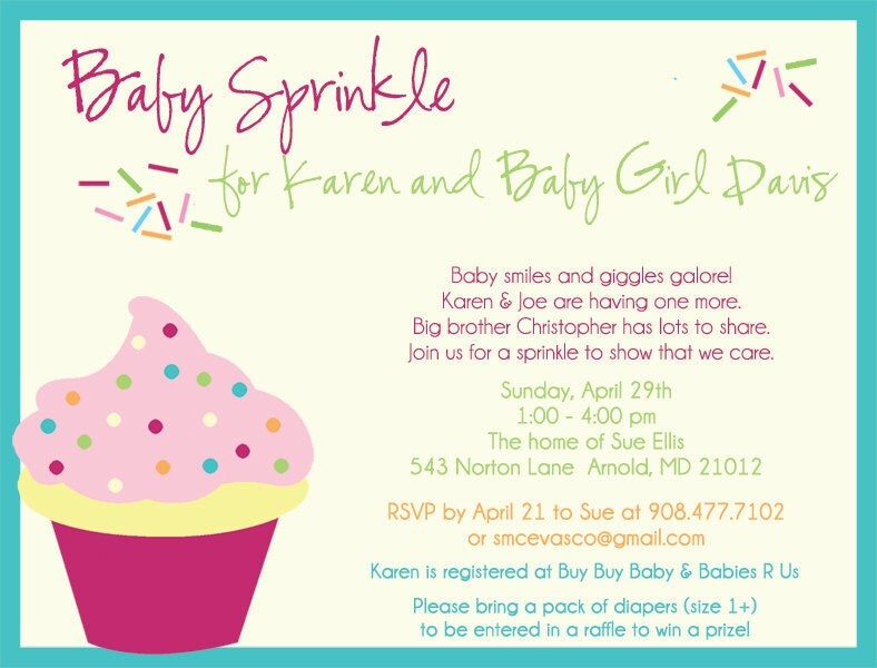 Baby Sprinkle Invitations for smellis11