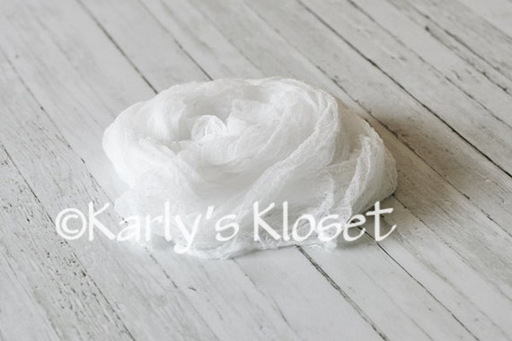 CLEARANCE White Cheesecloth Fabric Newborn Baby Boy Girl Photo Prop Wrap