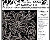 Weldons 2D (185) c.1900 - Practical Point Lace Instruction Book - Third of three Books