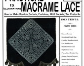 Weldons 2D (40) c.1888 - Practical Macrame Lace Borders, Sachets, Tea Cosies, etc. - Fourth of Five Books