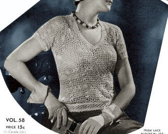 Bear Brand (58) c.1932 - Chic Hand Knitted and Crocheted Creations