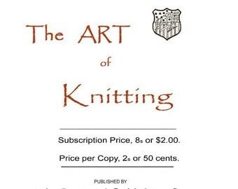 Butterick Art of Knitting Book c.1897 Huge Book of Classic Victorian Era Knitting Patterns