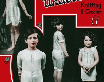 Bestway (205) c. 1920 Children's Vintage Underwear Patterns in Knitting & Crochet