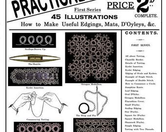 Weldon's 2D (43) c.1888 - Practical Tatting, How to Make Useful Edgings, Mats & Doilies