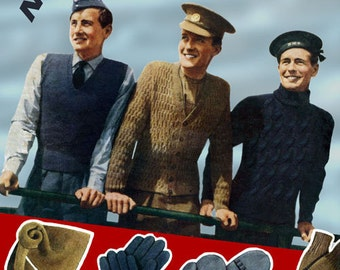 Weldon's 6D Knitter (24) c.1940 - Vintage Woollies for our Sailors, Soldiers and Airmen