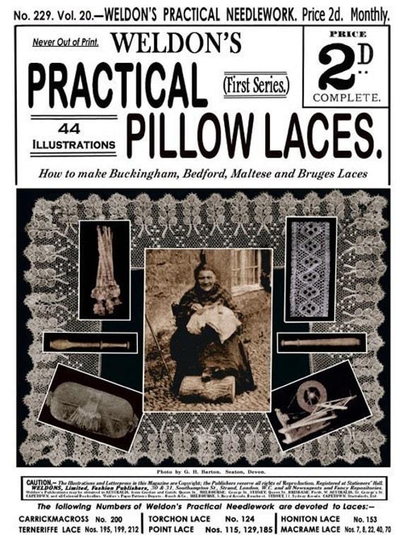 Weldons 2D (229) c.1904 Rare Edwardian Era Pattern Book to Make Bobbin Lace