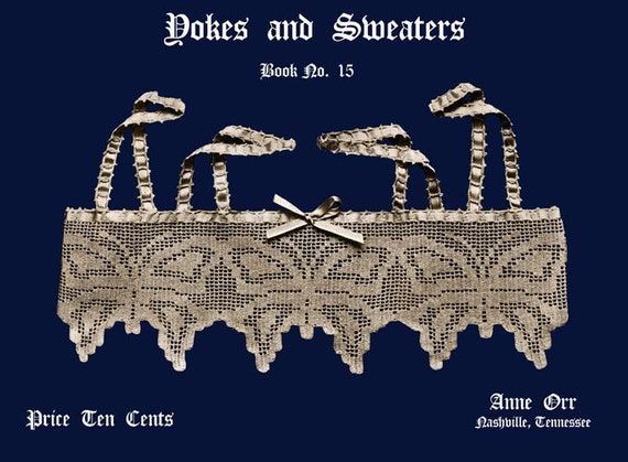 Anne Orr (15) c.1918 Lovely Prohibition era Crocheted Yokes and Sweaters