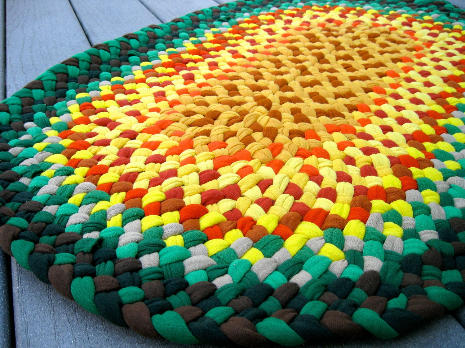 Braided Rug Made With Recycled Cotton Tee Shirts T Shirts