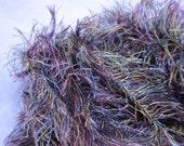 """Gorgeous Destash Artful Yarns """"Galaxy"""" Eyelash Yarn Multicolored in Burgundy, Chartreuse and Aqua"""