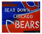 "8"" x 10"" Print of the Bears Fans Greatest Chant, Bear down CHICAGO Bears"