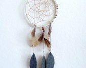 Handmade Dreamcatcher - Feathers & Forest Leaves
