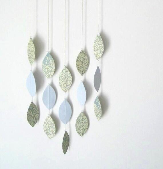 Hanging Leaf Mobile in Sea and Sky, OOAK