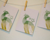 Peacock Printed Thank You Cards