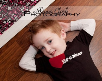 Baby Toddler Boys Shirt - Heart Breaker Top - Perfect for Valentine's Day - Short Sleeves