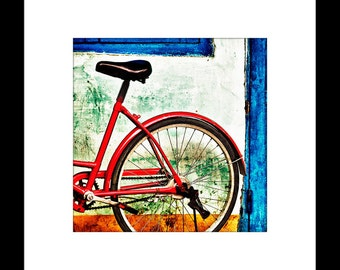 Red Bicycle 8X8 Custom Print