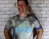 """Townie Electra Cruiser MENS """"sweet ride"""" tshirt with splatter treatment"""