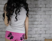 Roller Derby Speed Skate Boyshort Panties, Roller skate Panties Dyed Fuchsia or custom colors