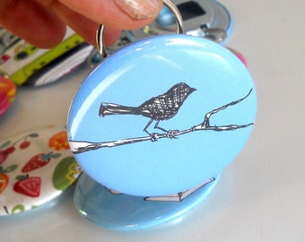 Bird on Branch Bottle opener in blue or custom colors, Great stocking stuffer