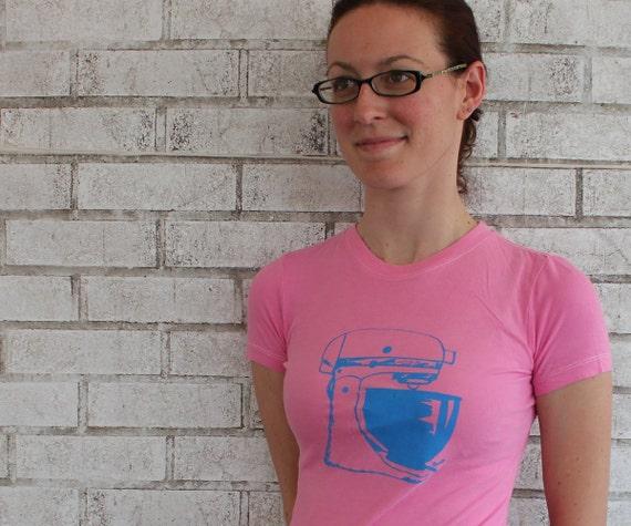 "Ladies kitchen Mixer tshirt ""Retro Mamma"" Ladies Mixer Tee Shirt in HOT pink or custom colors, Short Sleeved Vintage Style Super Soft Shirt"