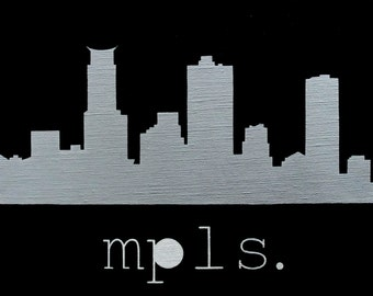 mpls.   10.5x8.5 in./27x22 cm.   Acrylic Painting
