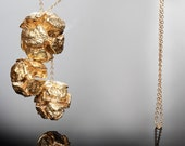 3 Cypress Pine-Ball 24k Gold necklace