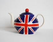 Ceramic Teapot - Union Jack Design - UK Flag - Large Size