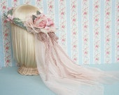 Botanic Angel - Pink Rose Flower Crown - BRIDAL Vintage Inspired Hair Accessories  - Ready to Ship