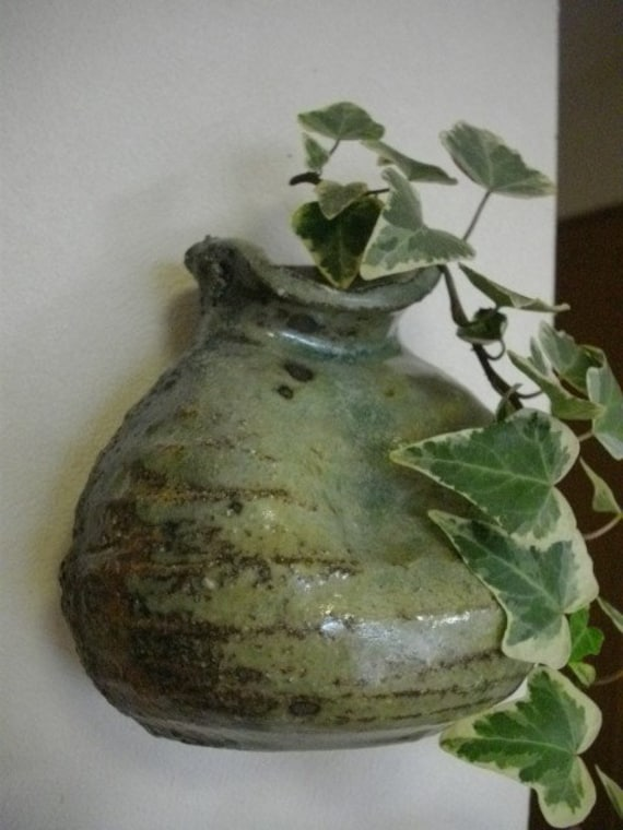 Pine Ash Glazed Wall Vase