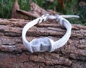 Karma white leather bracelet SALE was 15 USD