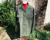 "Vintage Army Fatigue Shirt Size 16 1/2"" x 34"