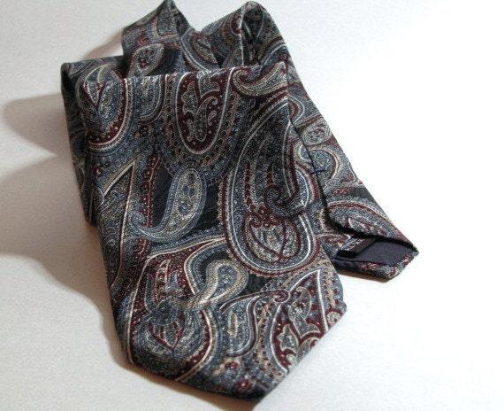 Vintage Silk Necktie Paisley Paulo Zini