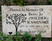 "Tree Dedication plaque. Maintenance Free 12""x8""x3/8""- Price includes shipping and personalization."