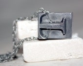 Upper Case Letter T Printing Press Necklace
