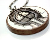 Science Brain Male Anatomy : From Head to Toe Two Sided Necklace MADE TO ORDER