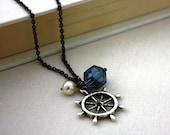 Ship's Wheel Necklace : Nautical Sailing