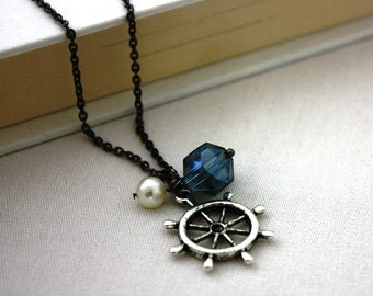 Ship's Wheel Necklace : Nautical Sailing