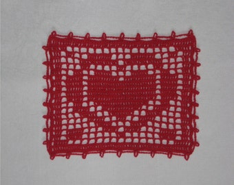 Red Heart Doily
