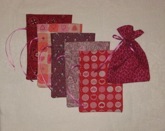 Valentine Gift Bags set of 6