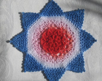 8 pointed star doily