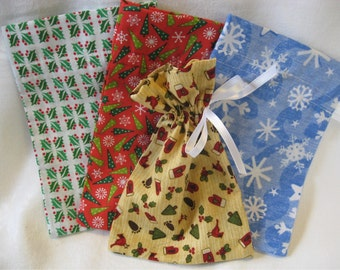 Set of 4 Christmas Gift Bags - Donation for Disaster Relief