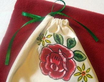 Upcycled Mexican Napkin Gift Bag Medium