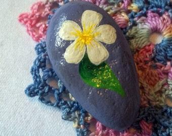 White Flower Rock Art