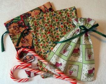 Set of 3 Christmas Holiday Gift Bags